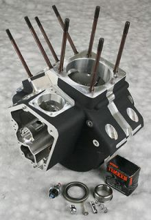 Ultima Black Finish Engine Cases for 1984 91 Harley Evolution Motors