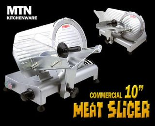 10 Commercial Restaurant 240W Electric Frozen Meat Deli Food Slicer