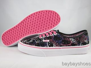 VANS AUTHENTIC HELLO KITTY BLACK/PASSION FLOWER PURPLE/PINK/WHITE MENS