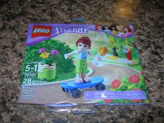 LEGO FRIENDS Polybag Set 30101 MIA on blue skateboard ice cream fire