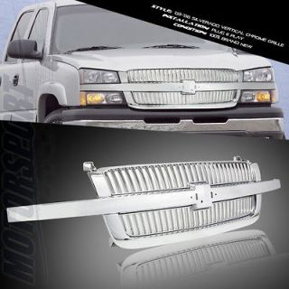 Newly listed 03 04 05 CHEVY AVALANCHE 1500 1PC CHROME GRILL GRILLE W/O