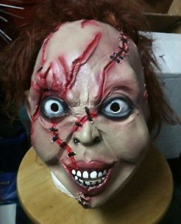 Chucky Halloween childs play Latex Mask, Fancy Dress scary good guy