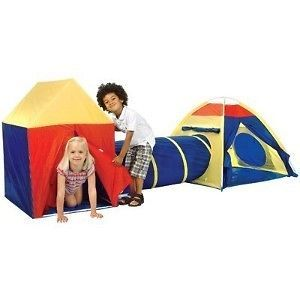 Childrens Indoor/Outdoor PlayTent, includes House, Tent and Tunnel