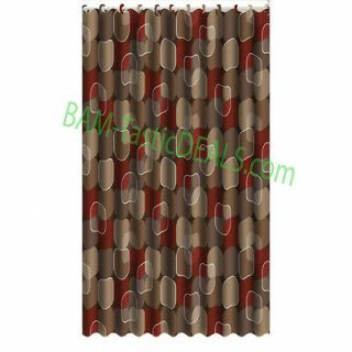 Printed Fabric Shower Curtain with FREE Heavy Duty Vinyl Liner