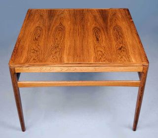 Antique Rosewood Square Coffee Table Art Deco