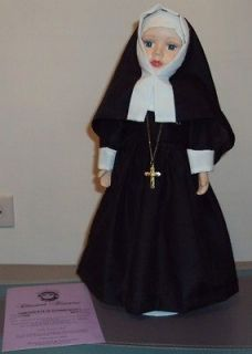 TREASURES DOLL COLLECTION NUN COLLECTIBLE FINE BISQUE PORCELAIN DOLL