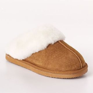 Genuine Shearling Wool Suede Clog Style Slippers Women 6 7 8 9 10 New