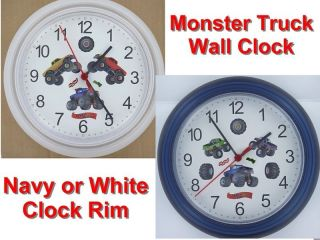 MONSTER TRUCK WALL CLOCK Racing Tires Race trucks NR