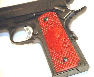 Red Scaled PUNISHER GRIPS COLT 1911 45 KIMBER SIG SAUER Taurus ACP