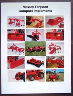 Massey Ferguso n Implements for Compact Tractors Brochure Catalog