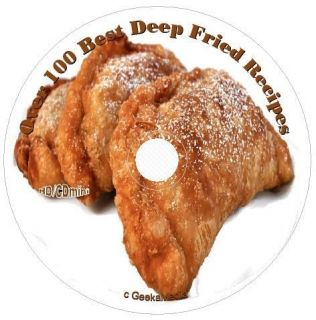 Deep Fryer Recipes on CD turkey ice cream candy bars meat pies pickles