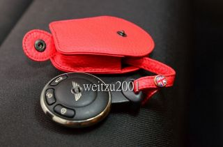 Red R55 R56 R60 Leather Mini cooper Key Fob countryman