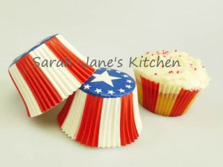 AMERICAN STARS STRIPES Muffin Cup Cake Cupcake Pan Paper Cases Liners