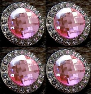 BERRY CRYSTALS BLING CONCHOS HORSE SADDLE HEADSTALL PINK CLEAR TACK