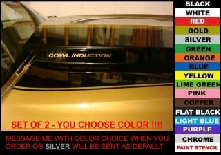 COWL INDUCTION HOOD DECALS. SET OF 2, ANY COLOR chevy truck camaro