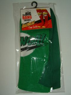 The Big Bang Theory Tv Show Green Bazinga Costume Cape Knee High Socks