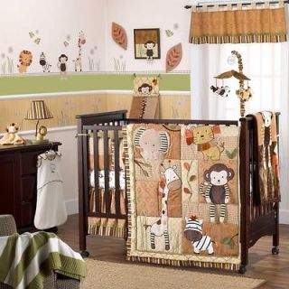 Gender Neutral Baby Boy & Girl 8pc Nursery Monkey Crib Bedding Set