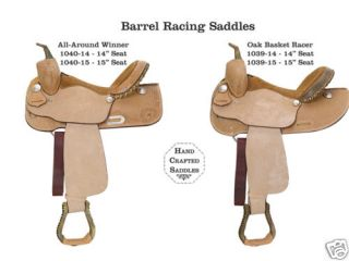 New Custom Trophy Award Barrel Racer Racing Saddle