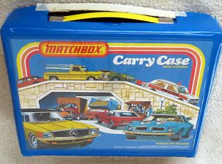 Lesney Matchbox Carrying Case and 4 Plastic Trays and 48 cars RARE