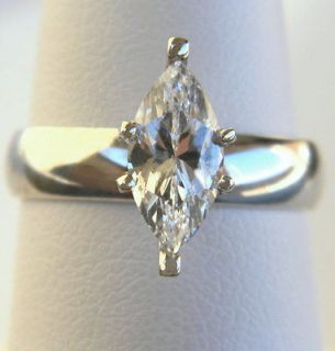diamond ring marquise solitaire wide band yellow gold