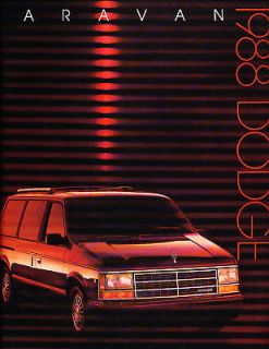 1988 Dodge Caravan Grand Deluxe Sales Brochure Book