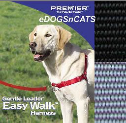 GENTLE LEADER EASY WALK HARNESS DOG BLACK MEDIUM LARGE
