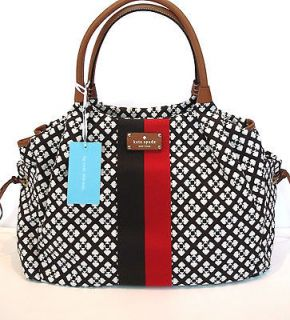 NWT NEW Kate Spade Classic CHOCOLATE Stevie Baby Diaper Bag Overnight