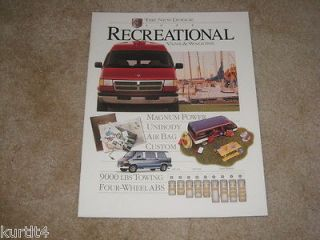 1995 Dodge Ram Van Wagon Conversion Custom sales brochure dealer
