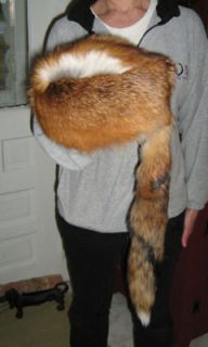 Red Fox Fur Mountain Man Hat Black Powder Raccoon