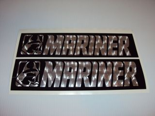 Mariner Boat Engine Turn Chrome Pattern vinyl Outboard decals