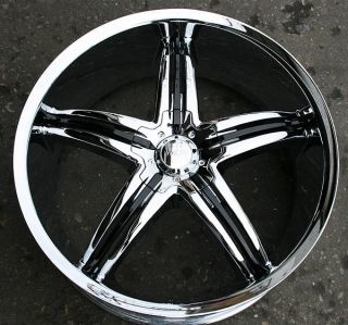 VISCERA 770 22 CHROME RIMS WHEELS HONDA ACCORD 5 Lug