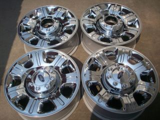 FORD F250 F350 OEM FACTORY SUPER DUTY CHROME FACTORY WHEELS RIMS 2013