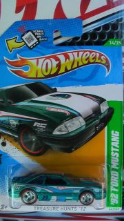 HOT WHEELS 2012 92 FORD MUSTANG TH CUSTOM SUPER REAL RIDERS NEW