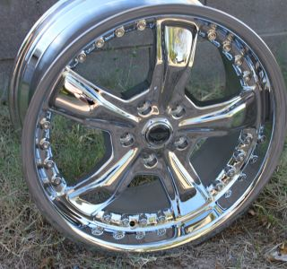 CHROME RAZOR RIMS 5 Lug Wheels Ford Mustang 05 12 GT Shelby 2005 2012
