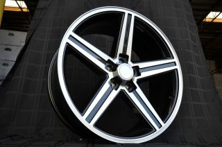 20 Black IROC Wheels Old Chevy Rims Impala Camaro Cutlass El Camino