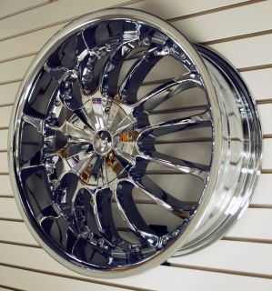 Lite Side Chrome Wheels Rims Tires Pkg 5x120 5x120 65 New 2011