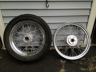 2006   2007 Harley Davidson Dyna Street Bob Spoked Chrome Wheels will