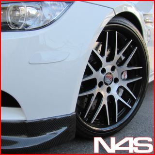 G35 Coupe Roderick RW 6 Concave Black Staggered Wheels Rims
