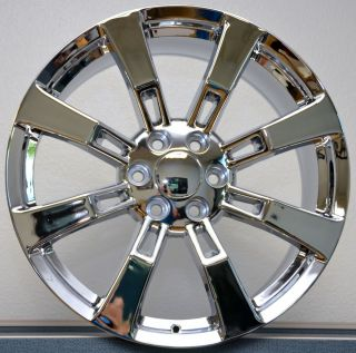 22 Tires Chrome Wheels Cadillac Escalade GMC Denali Rims Set Package