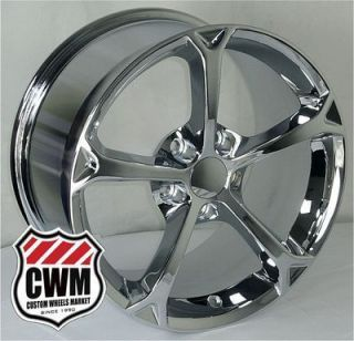 18x9 5 Corvette C6 Grand Sport Replica Chrome Wheels Rims fit C5 Vette