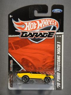 HOT WHEELS GARAGE REAL RIDERS 70 FORD MUSTANG MACH 1 #12 NEW MATTEL