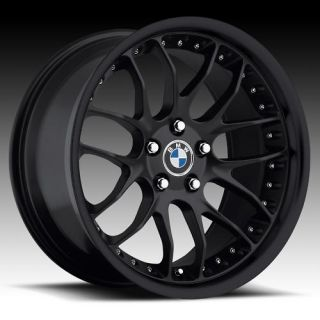 19 MRR GT7 Matt Black Rims Wheels BMW 525 528i 530i 540 545 M5 M3 19x8