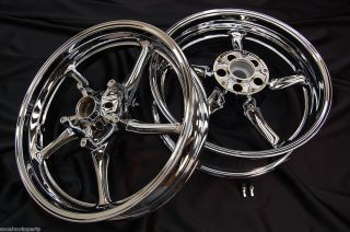 06 07 08 09 10 11 Yamaha YZF R6 Chrome Rims wheels rim NEW SET CHROMED