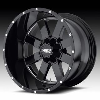 22 inch 22x14 Moto Metal Black Wheels Rims 5x150 Toyota Tundra Sequoia