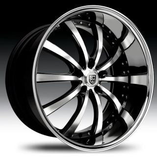 24 Lexani LSS 10 Wheel Set LSS10 Rims 24inch Machined Staggered 5 Lug