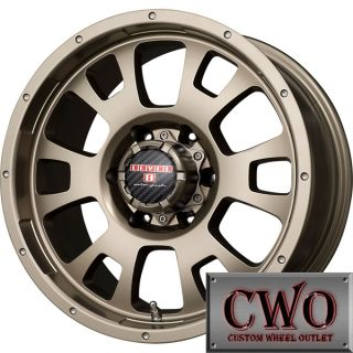 16 Bronze Level 8 Guardian Wheels Rims 6x139 7 6 Lug Chevy GMC 1500