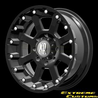 XD Series XD807 Strike Matte Black 5 6 8 Lugs Wheels Rims FREE LUGS