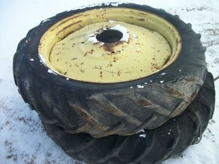 1946 John Deere A Tractor Rear Tires Rims 11x38