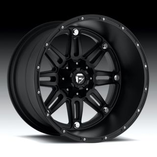 20 x 12 Fuel Hostage Black Deep 5 6 8 Lug Wheels Rims