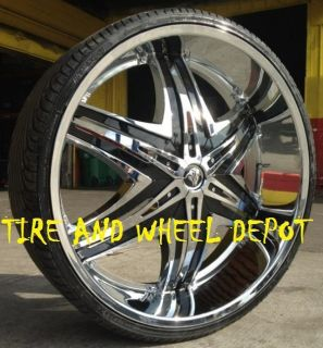 22 inch Diablo Elite Rims and Tires Lexus Cadillac Maxima Pilot